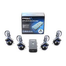 Sabrent 4-Port USB 2.0 and VGA/SVGA KVM Switch Box with 4 Set of Cables KVM-USB4