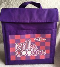 Kindermusik Milk & Cookies Our Time Vinyl Purple Bag Lunch Bag Velcro Insulated