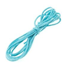 Light Blue Jewellery Beading 100% Cotton Cord 1mm - 1 Metre Length (A96/2)