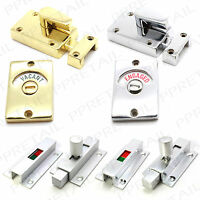 VACANT/ENGAGED BATHROOM DOOR LOCK Chrome/Brass/Silver Toilet Indicator Catch