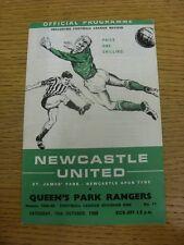 19/10/1968 Newcastle United V Queens Park Rangers (piega, piccoli segni, SQUADRA CH