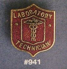 Lab Tech Laboratory Technician Caduceus Gold Plate Insignia Pin 941 New Retired
