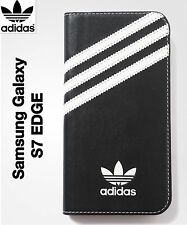 adidas ORIGINALS Samsung Galaxy S7 EDGE Booklet CASE-100% GENUINE! BLACK/WHITE