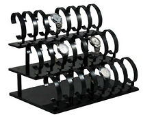 Black Acrylic Jewelry Bracelet Watch Display Rack Holder Stand General