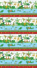 I Spy Amazon Cotton Quilt fabric by Northcott Border Monkey Alligator Bugs Birds