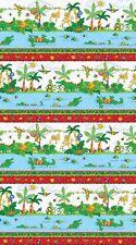 I Spy Amazon Cotton Quilt fabric by Northcott Border Monkey Alligator Bugs Birds