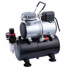 AS-186S MINI PISTON AIRBRUSH COMPRESSOR WITH 3 LITRE TANK & COOLING FAN