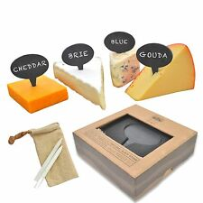 Cheese Marker Set: 4 Piece Slate Chalkboard Cheese Label Set by Jetty Home