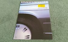 January 1986 RENAULT 9 11 BROADWAY UK BROCHURE Inveralmond Motors Perth Sticker