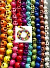 40 Skull Beads Single or Mixed Colours 9x7.5mm - Day Of The Dead
