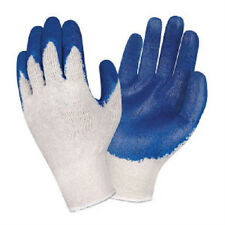12 Pair 1 Dz BLUE LATEX Rubber Coated Palm String Knit Work Gloves Large L NEW