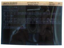 Honda VT1100 VT1100C2 Shadow Sabre 2000 2001 Parts List Catalog Microfiche a573