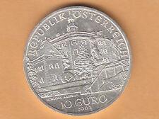 2002 AUSTRIA OSTERREICH  CASTELLO DI AMBRAS 10 € EURO ARGENTO SILVER Q. FDC