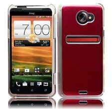 For HTC EVO 4G LTE HARD Protector Case Snap On Phone Cover Metal Red Cosmo