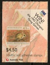 AUSTRALIA SGSB78 1992 THREATENED SPECIES O/P WIN A TRIP TO OLYMPICS BOOKLET  MNH
