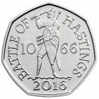 2016 50P COIN BATTLE OF HASTINGS RARE FIFTY PENCE BRILLIANTLY UNCIRCULATED (b)