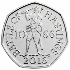 2016 50P COIN BATTLE OF HASTINGS RARE FIFTY PENCE BRILLIANTLY UNCIRCULATED (a)