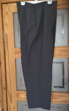 NEW Slimma Grey Stripe Comfort Fit 2 way Stretch Smart Trouser SIZE 24