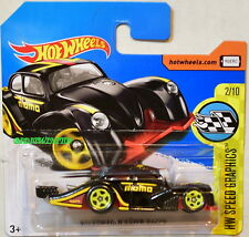 HOT WHEELS 2017 HW SPEED GRAPHICS VOLKSWAGEN KAFER RACER #2/10 BLACK SHORT CARD