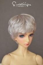 "8-9"" 1/3 BJD Hair IP SD doll wig Super Dollfie sliver curly short boy M-mohair"