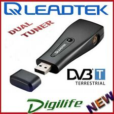 LEADTEK WINFAST DTV DONGLE DUAL USB HD DIGITAL TV TWIN TUNER DVB-T WITH REMOTE