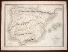CARTE ANCIENNE D'IBERIE ou ESPAGNE ANCIENNE 1831 par LAPIE antic old map