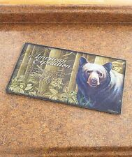 American Expedition Glass Cutting Board Northwoods Black Bear Cabin Wild Decor