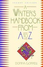 A Writer's Handbook from A to Z (2nd Edition), Donna Gorrell, Very Good Book