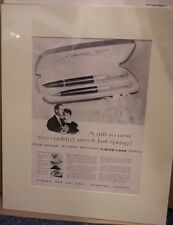 Original Vintage Advert mounted ready to frame 1956 Liquid Lead Parker Pen
