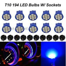 10pcs T10 Wedge Blue Speedometer Instrument Cluster LED Light Bulbs 168 PC194