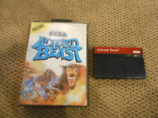 ALTERED BEAST Sega Master SMS Game w/ Case Boxed