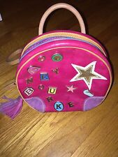 CUTE Vintage Dooney & Bourke Small PINK Star Charms Leather Round Backpack RARE!