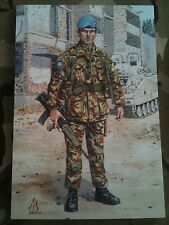 Military Postcard 2nd Royal Anglian Regiment Bosnia 1994 by Alix Baker