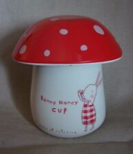 "Darling Maileg Original ""Bunny Honey Cup"" Hard Plastic Toadstool Cup & Egg Bowl"