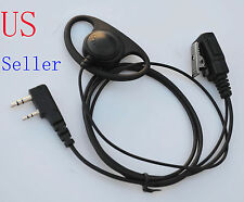 D-Ring headset/ear piece for Kenwood 2-Prong Radios TK 208 220 240 248 250 TH