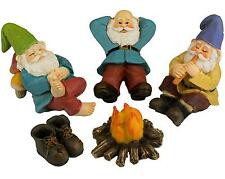 Funny Mini Garden Gnomes Set Outdoor Yard Home Lawn Figurines Sculptures Statues