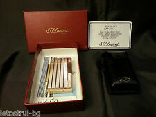 """S.T.Dupont"" lighter,Line 1,Gold plated 20μ, Feuerzeug – Briquet- Accendino-box"