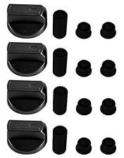 4 X Universal INDESIT Cooker/Oven/Grill Control Knob And Adaptors BLACK
