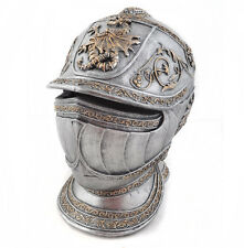 Money Piggy Bank Burgonet European Knights Armor Helmet Savings Box 20cm