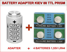 BATTERY ADAPTER for KIEV 88 TTL PRISM + 4 BATTERIES BUTTON 1,5V LR44