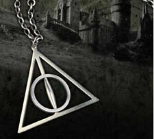 Harry Potter Metal Women The Deathly Hallows Charm Pendant Chain Necklace