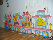 HAND MADE 4-PC. EASTER TRAIN 115'' LONG YARD  YARD ART DECORATION
