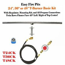 "T48CK: COMPLETE BASIC PROPANE 48"" LONG T-BURNER FIRE TABLE KIT; 316 Stainless"