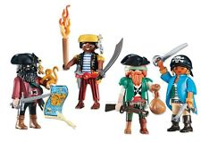Playmobil 4 PIRATE FIGURES PIRATAS - Captain Map Weapons Sailor NEW Custom Lot