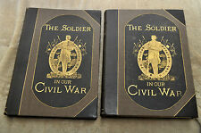 "Antique 18841885 First Edition ""The Soldier in Our Civil War"" With Slipcase"