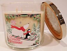 BATH & BODY WORKS TWISTED PEPPERMINT SCENTED CANDLE 3 WICK 14.5 OZ NEW!