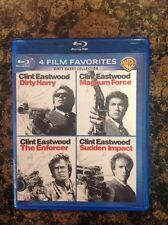 Dirty Harry Collection: 4 Film Favorites (Blu-ray,2014,4-Disc) Authentic US