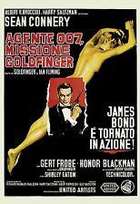 James Bond: * Goldfinger *  Sean Connery Italian Movie Poster 1964