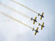 PHOTO SKY AIR DISPLAY STUNT PLANE JET VAPOUR TRAIL FORMATION POSTER BMP10731