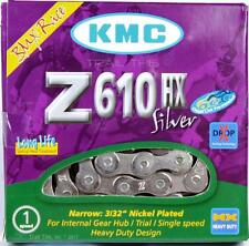 "KMC Z610HX Silver Heavy-Duty Bike Chain 3/32"" 7.8mm Single-Speed 113L BMX Fixed"